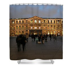 Shower Curtain featuring the photograph Louvre Palace, Cour Carree by Mark Czerniec
