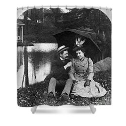 Love, 1900 Shower Curtain by Granger