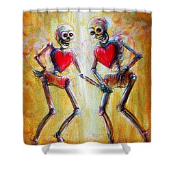 Shower Curtain featuring the painting Love 2 Love by Heather Calderon