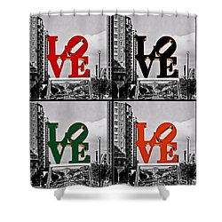 Shower Curtain featuring the photograph Love 4 All by DJ Florek