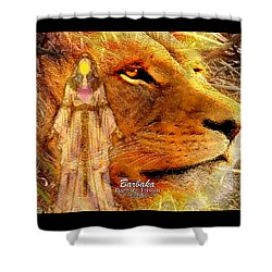 Shower Curtain featuring the digital art Love 444 Cecil by Barbara Tristan