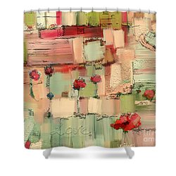 Love Abstract Shower Curtain