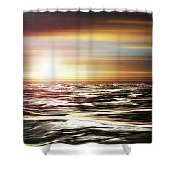 Love Across The Ocean Shower Curtain