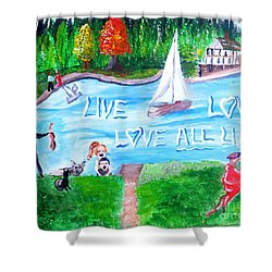 Love All Life Shower Curtain
