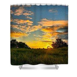 Love An Autumn Sunset :) Shower Curtain
