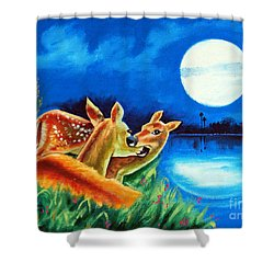 Shower Curtain featuring the painting Love And Affection by Ragunath Venkatraman