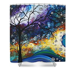 Love And Laughter By Madart Shower Curtain by Megan Duncanson