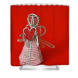 Love Angel Shower Curtain by Evelina Kremsdorf