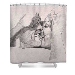 Love At First Bite Shower Curtain by Ray Agius