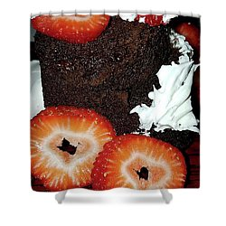 Love Berry Much Shower Curtain