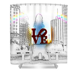 Love Shower Curtain by Bill Cannon