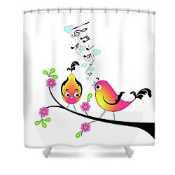 Love Bird Serenade Shower Curtain