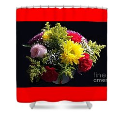 Love Bouquet Shower Curtain