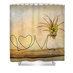 Love Shower Curtain by Catherine Lau