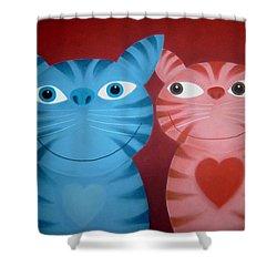 Love Catz Shower Curtain