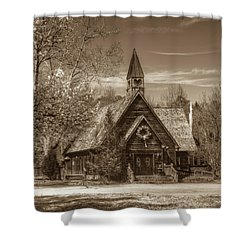 Love Chapel In Sepia Shower Curtain