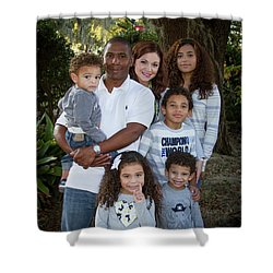 Shower Curtain featuring the photograph Love Demonstrated James Ingram Family Art by Reid Callaway