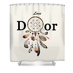 Shower Curtain featuring the painting Love Dior Watercolour Dreamcatcher by Georgeta Blanaru