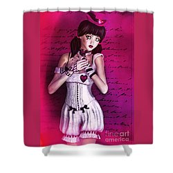 Love Doll Shower Curtain