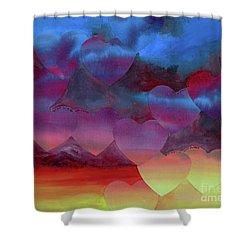 Love Drift Shower Curtain by Jeni Bate