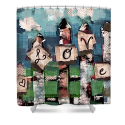 Love Fence Shower Curtain