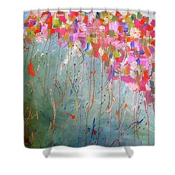 Love Flower Mountain Shower Curtain