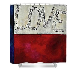 Love For Texas Two Shower Curtain