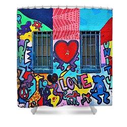 Love Haring  Shower Curtain
