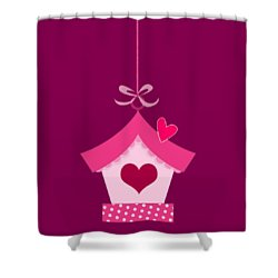 Love House T-shirt Shower Curtain
