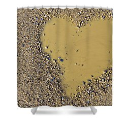 Love In A Muddy Puddle Shower Curtain by Meirion Matthias