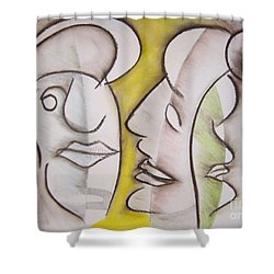 Love In Between Shower Curtain