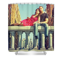 Love In Big City Shower Curtain