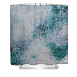 Love In Negative Spaces Shower Curtain