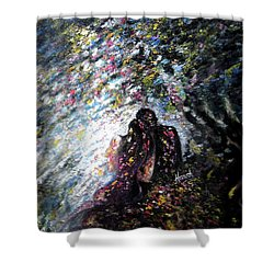 Love In Niagara Fall Shower Curtain by Harsh Malik