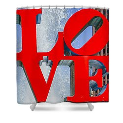 Shower Curtain featuring the photograph Love In Philadelphia Pa by Bill Cannon