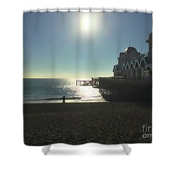 Love In Southsea Shower Curtain
