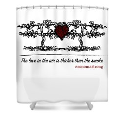 Love In The Air Shower Curtain