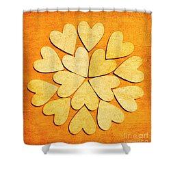 Love Interlinked Shower Curtain