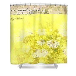 Love Is A Canvas - Nigella Damascena Shower Curtain