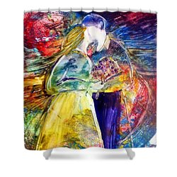 Love Is All Around Shower Curtain