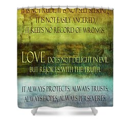Shower Curtain featuring the digital art Love Is  by Angelina Vick