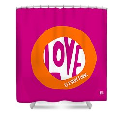 Shower Curtain featuring the painting Love Is Everything by Lisa Weedn