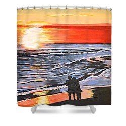 Love Is In The Air Shower Curtain by Donna Blossom