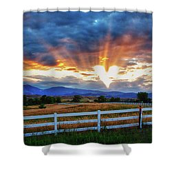 Shower Curtain featuring the photograph Love Is In The Air by James BO Insogna