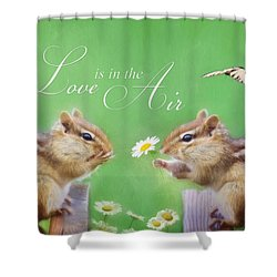 Love Is In The Air Shower Curtain by Lori Deiter