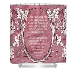 Shower Curtain featuring the digital art Love Is Kind by Angelina Vick