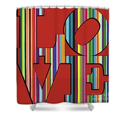 Shower Curtain featuring the mixed media Love Is Love by Carla Bank