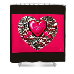 Shower Curtain featuring the digital art Love Is Patient And Kind by Will Borden