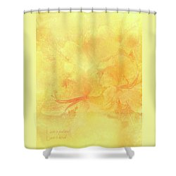 Love Is Patient Love Is Kind Shower Curtain