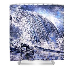 Love Is The Seventh Wave Shower Curtain by Miki De Goodaboom